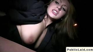 European Amateur Babe Bangs In Public At Night