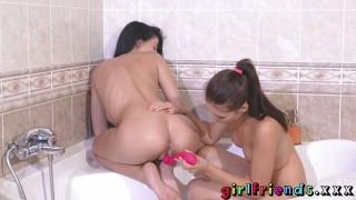 Girlfriends Big tits beauty joined by cute friend