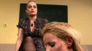 Lezdom teacher humiliates and punishes sub