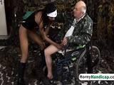Ebony hottie drilled by stranger