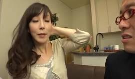 Fabulous Japanese Whore Homami Takasaka In Amazing Blowjob-fera, Mil