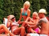 Hot and horny hotties enjoy wet fun in group sex scene