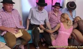 Wild German Swinger Gangbang Party