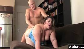 Bbw Gets Some Cum In Her Mouth