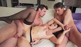 Valentina Nappi Easily Handles Two Dicks
