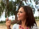 Magical latin beauty Ariana Fox cumming on huge stick